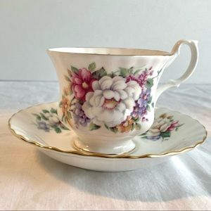 Vintage Royal Albert Summertime Teacup & Saucer